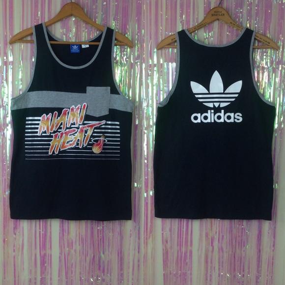 hot sale online 49c64 0648f Adidas Miami heat tank top men's T38